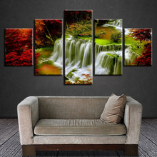 5pcs DIY Diamond Painting Red Tree Waterfall Full Square Embroidery Mosaic Picture Of Rhinestone H322