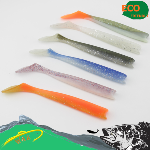 Big size PVC fishing lure-sayori shad for saltwater fishing soft bait soft lure #H0902-220 mix color package on soft lure 15 cm shad bait soft bait for boat fishing