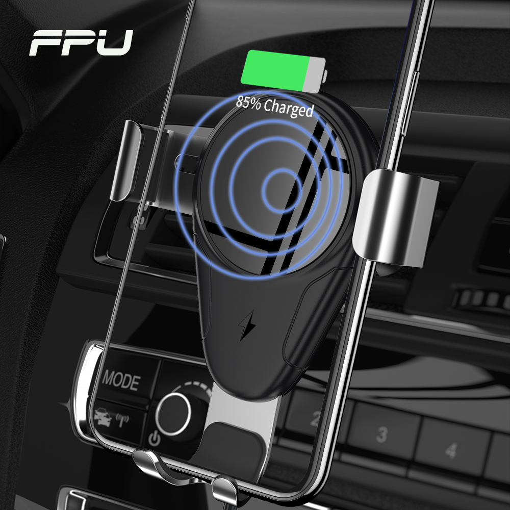FPU 10W Qi Wireless Charger For iPhone Xs Max XR X 8 Gravity Fast Car Wireless Charging Holder For Xiaomi Mi9 Samsung S10 S9 S8