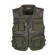 Multi-Pockets Outdoor Sport Hiking Hunting Vest Men Fishing Jackets Mesh Breathable Photography Vest Waistcoat Cargo Outwear 4XL