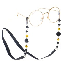 Fashion Women Sunglass Chain Black Acrylic Beads Eyeglass Chains Anti-slip Eyewear Cord Holder Neck Strap Reading Glasses Rope