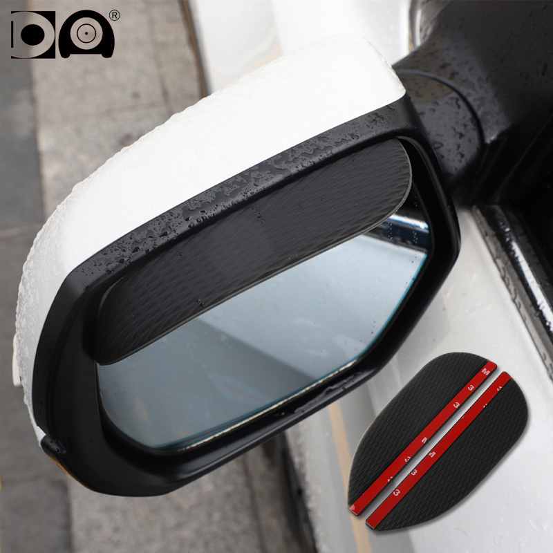 2 pieces Car rearview mirror rain shade eyebrow Universal waterproof soft gum fit for Nissan X trail Rogue Note NV200 Micra Cube in Car Stickers from Automobiles Motorcycles