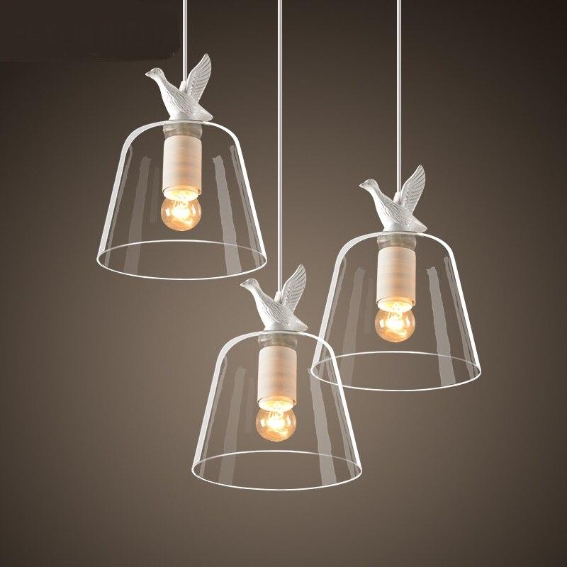 1/3 têtes lampes Restaurant moderne trois tête petite suspension lumière Simple bar nordique créatif trois petits canards FG868