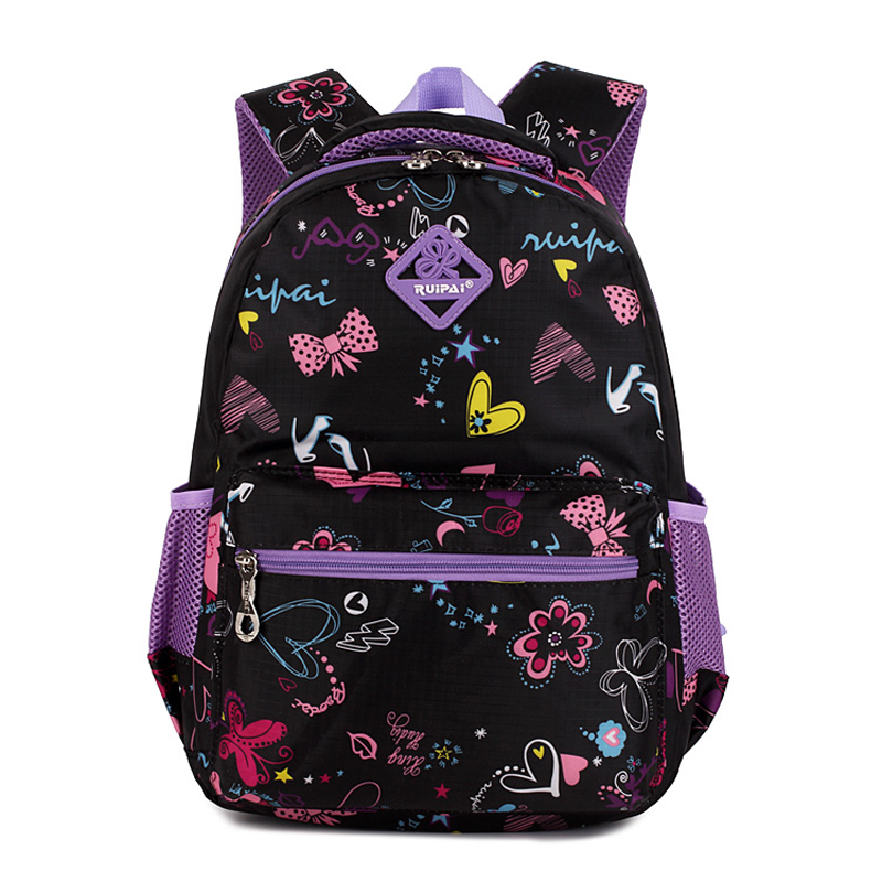 Girls Floral Printing Kindergarten Elementary Outdoor Bag School Backpack  Cute Trendy Children Book Bag Student Satchel-in Climbing Bags from Sports  ... 5a26e09a0dda4