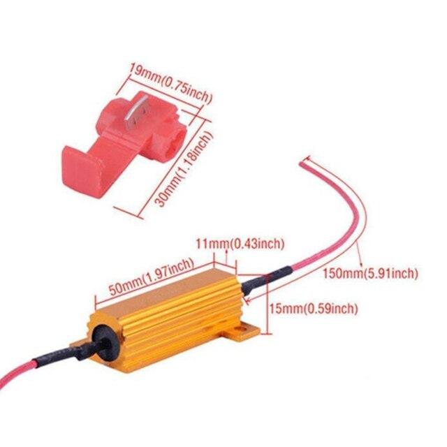 4pcs Nuovo 4x50W 6 ohm Resistenza di Carico Per Fix Lampadina del LED Veloce Hyper Flash Segnale di Girata lampeggiante