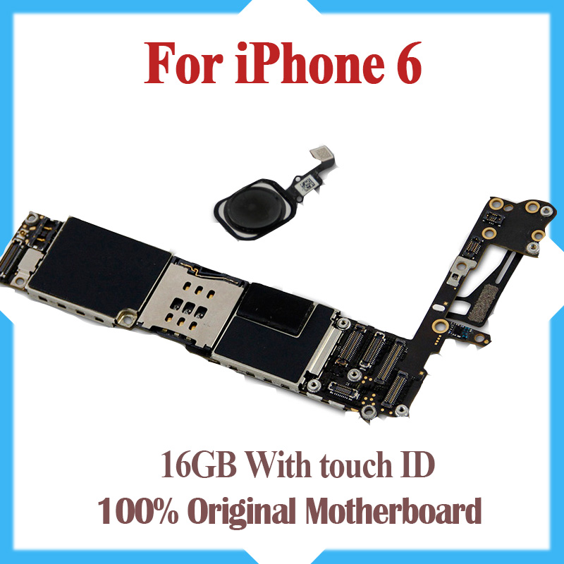 16GB Original Unlocked for iPhone 6 Motherboard with Touch ID Fingerprint Idetification Function for iphone 6