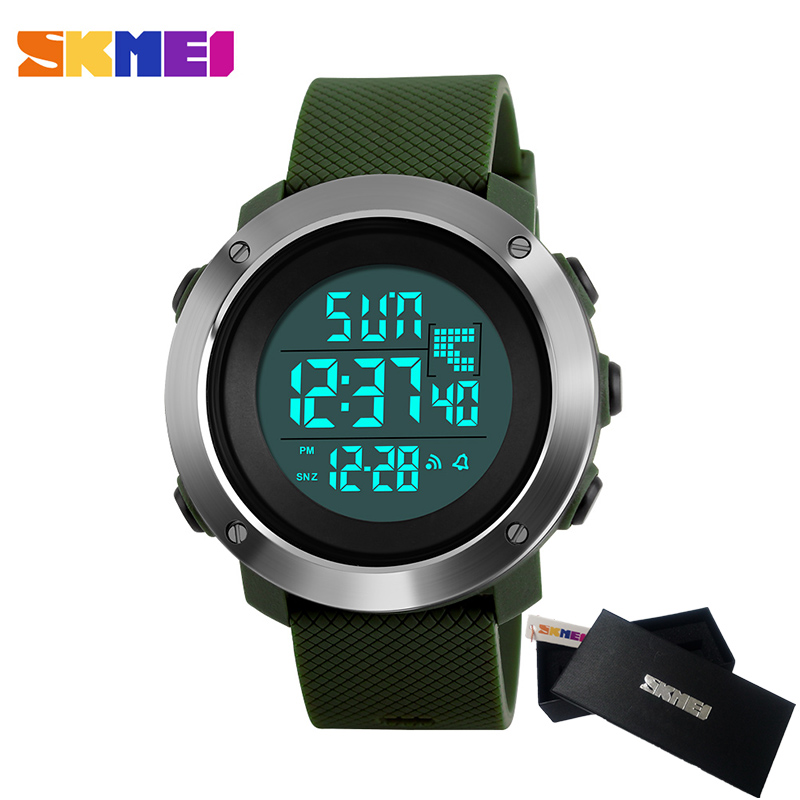 SKMEI Brand Men Women Sports Watches Chrono Double Time Digital LED electronic Clock Man Military Dress Watch Relogio Masculino