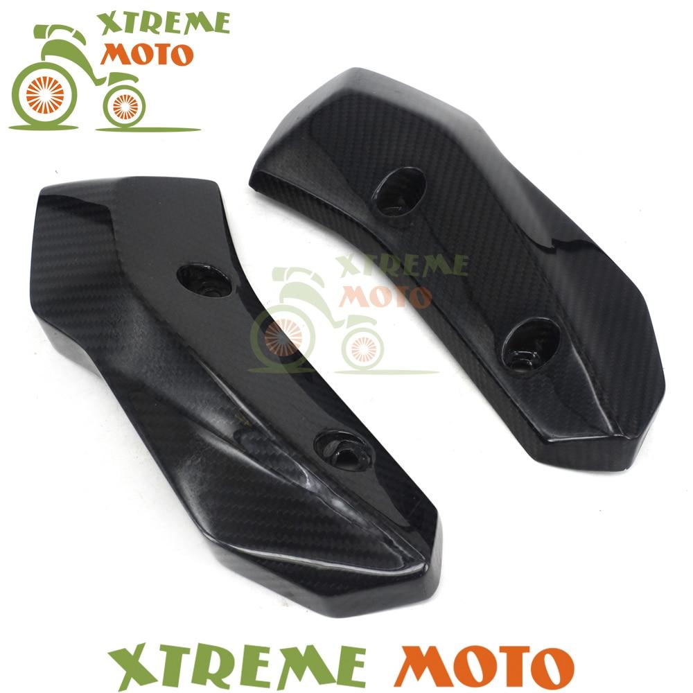 Motorcycle Carbon Fiber Side Radiator Cover Protector For Yamaha MT-07 FZ-07 MT07 FZ07 2014 2015 2016 2017 yandex w205 amg style carbon fiber rear spoiler for benz w205 c200 c250 c300 c350 4door 2015 2016 2017