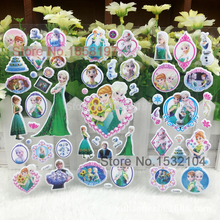 ICE Snow Princess wall stickers 3D Snow Queen Foam Wall stickers For Kids Festival Gift decor