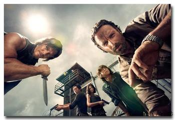 Шелковый плакат гобелен Ходячие мертвецы The Walking Dead вариант 4