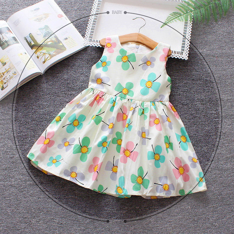 2018 Baby Party Dress Fashion Infant Toddlers Summer Floral Dresses for Princess Girls Clothes Robe Bebes Fille Kids Vestidos