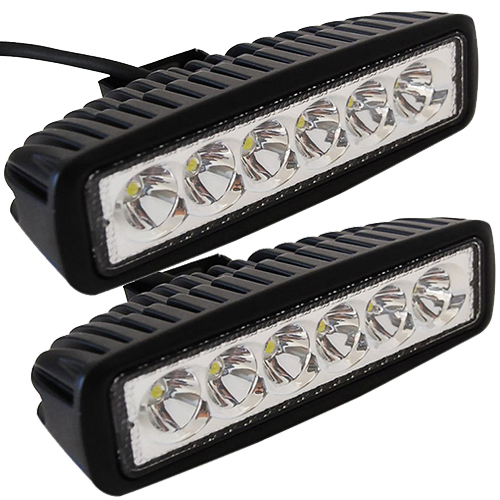2pcs 6 inch 18w led work light bar lamp for driving truck trailer 2pcs 6 inch 18w led work light bar lamp for driving truck trailer motorcycle suv aloadofball Choice Image