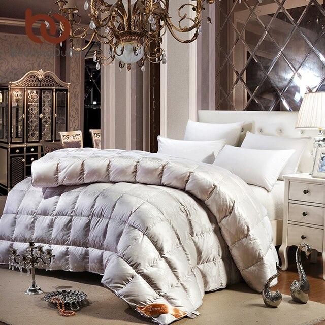 BeddingOutlet Princess Duvet Smooth Luxury Bedding Goose Down Quilt Lace Silk Comforter for Bedroom Twin Queen King