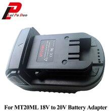 Adaptador de batería MT20ML para Makita, convertidor de Milwaukee, 18V/20V, Li ion, BL1830, BL1860, BL1815, para Milwaukee M18