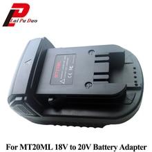 MT20ML Batterij Adapter Voor Milwaukee Converteren Voor Makita 18 V/20 V Li Ion Batterij BL1830 BL1860 BL1815 om Voor milwaukee M18 Batterij