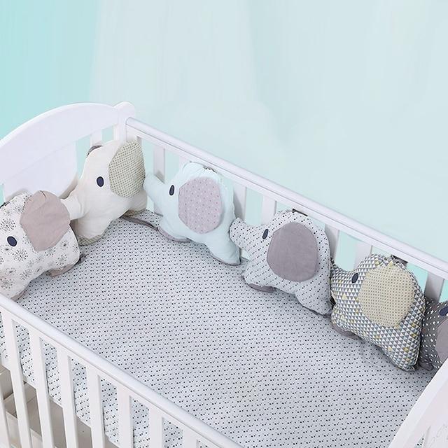 6Pcs Soft Elephant Baby Bed Bumper Combination Backrest Cushion Protection Crib Bumper Kid Bedding Set infant Child Bed Bumper
