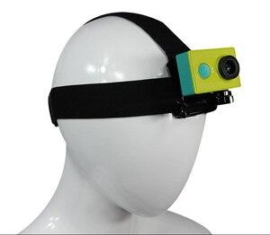 Image 4 - Uchwyt na pasek na zewnątrz głowy do telefonu komórkowego w uprzęży pasek do montażu na pasku statyw zacisk mocujący zamiast GOPRO xiaoyi Camera iPhone 6