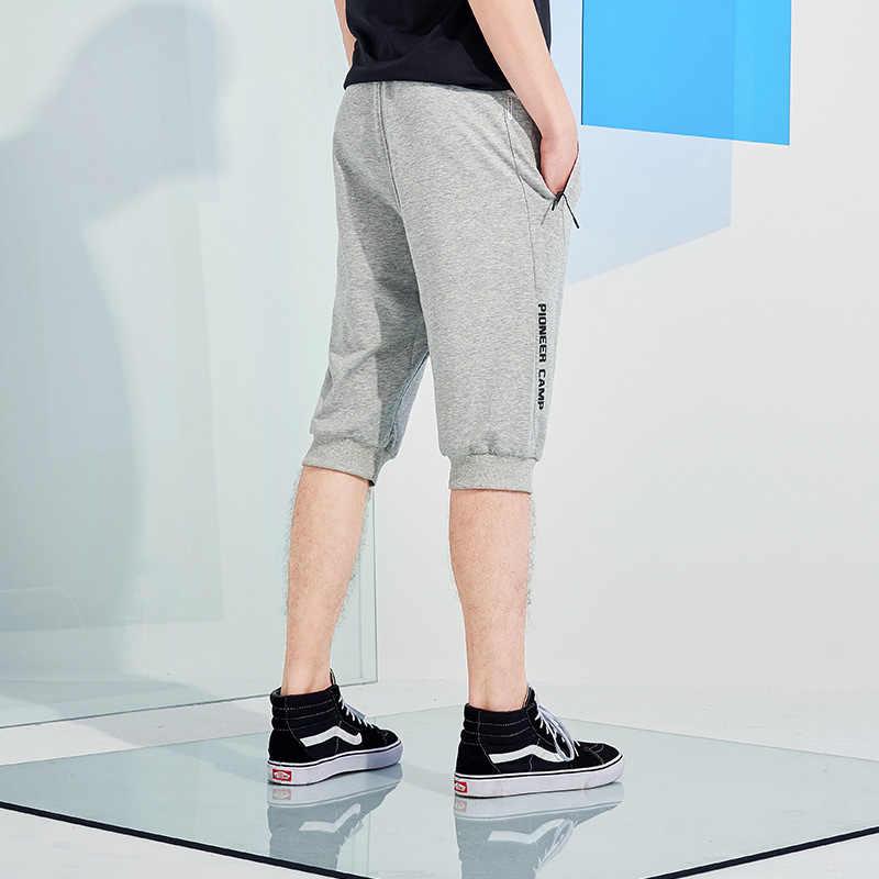 Pioneer campamento nuevos pantalones largos de pantorrilla ropa de marca de hombre casua pantalones cortos de alta calidad elásticos pantalones cortos negros masculinos AZZ801149