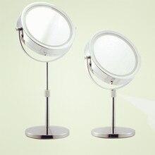 7 inch fashion high definition desktop mirror makeup 2 Face metal shower mirror extension type Adjust