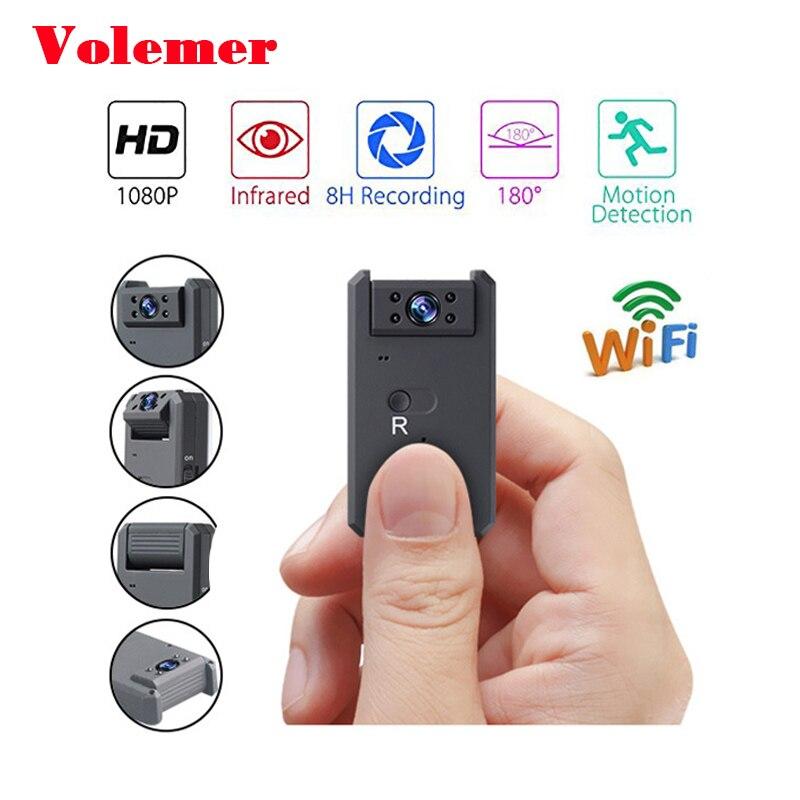 Volemer Wifi Mini Camera Infrared Night Version HD 1080P DVR Camera 140 Degree Wide Angle Recorder Mini Camcorder PK SQ11 SQ12 ht200a 1 5 lcd 5 0mp wide angle car dvr camcorder w sd mini usb mini hdmi black blue