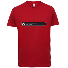 Achievement Unlocked: Graduate - Mens T-Shirt University Gift 13 Colours Print T Shirt Short Sleeve Hot Tops Tshirt