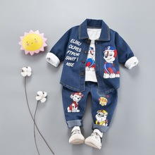 3PCS Jeans Clothing set Kid clothes conjunto infantil Boys jeans Boy Kids boys Set kids Girls sets 1-3Y