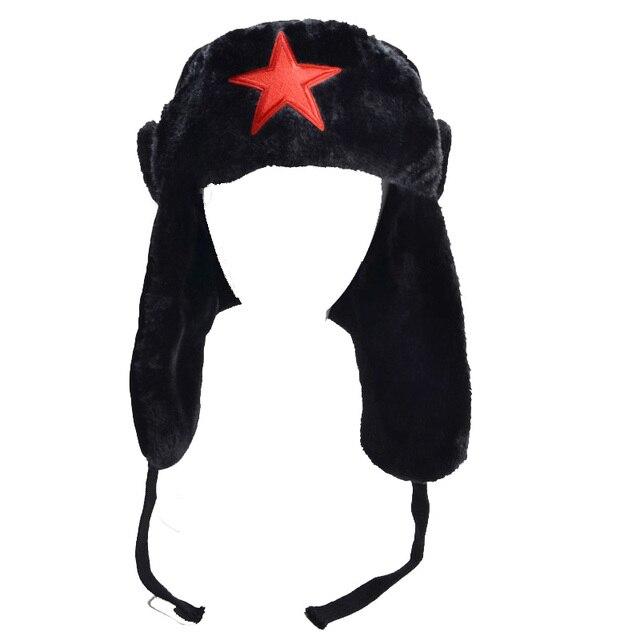 Donna di Inverno Cappelli Con Paraorecchie In Pelliccia Sintetica Foderato Trapper  Russo L uomo di 0209c3b67385