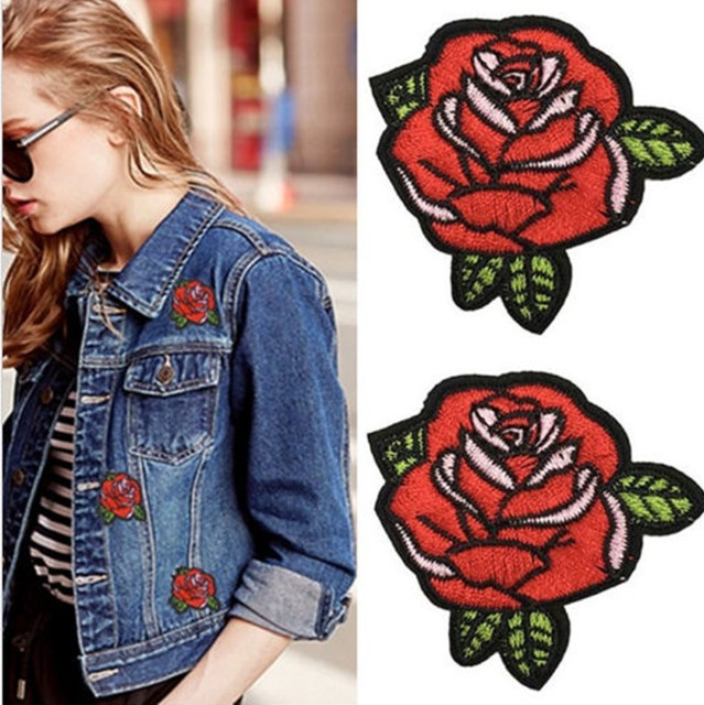 100pcs/lot Fine little butterfly embroidered patch Clothing patch Iron On Embroidered  Appliques DIY Apparel