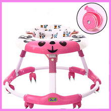 Foldable Baby Learning Multifunctional Baby Walker with 6 Wheels Anti Rollover Walker Car Walking Assistant Music Light 7~18 M