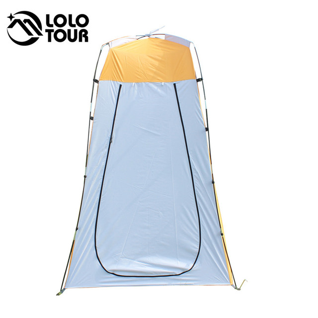 Lightweight Portable Camping Shower tent awning canvas folding Outdoor Toilet Room Privacy showing Changing clothes tente white 5