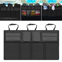 Car Rear Trunk Seat Elastic String Storage Mesh Net Bag Luggage Holder Pocket Sticker Trunk Organizer Car styling Seat back bag
