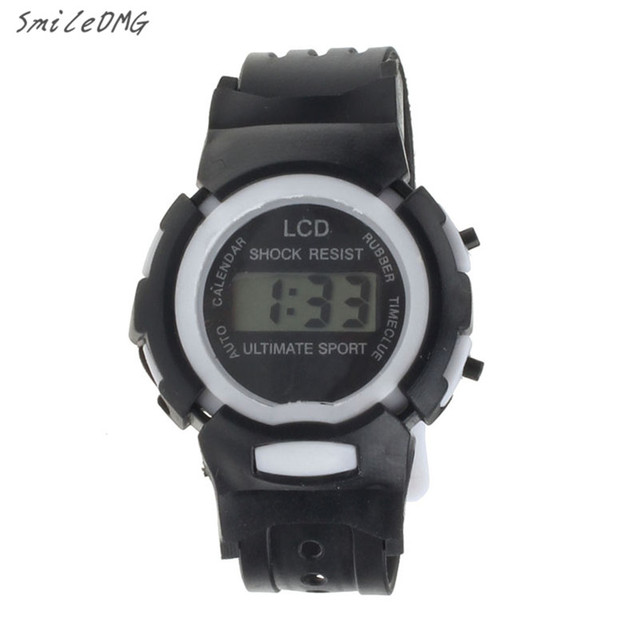 SmileOMG Boys Girls Students Time Clock Electronic Digital LCD Wrist Sport Watch