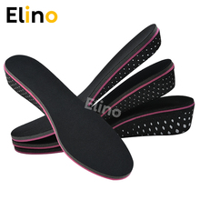 все цены на Elino 1Pair EVA Breathable Height Increase Insole Heel Taller Shoe Pads Full Pad Anti-skid for Women 2-5cm онлайн