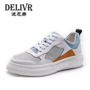 Delivr Shoes Men Sneakers 2019 Casual Breathable Mens Shoes Genuine Leather Erkek Ayakkabi Male Outdoor Flats Men Shoes Sneakers