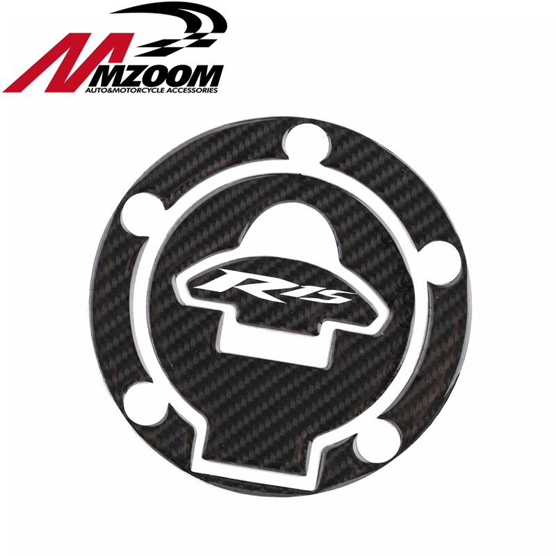 3d carbon fiber motorcycle Accessories Tank cap Gas Pad decals For yamaha  yzf-r15 yzf r15 2011-2014