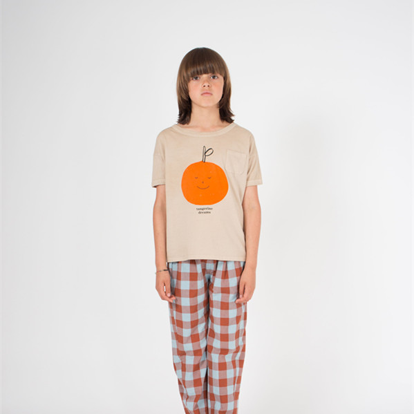 BOBOZONE 2021 NEW BOBO loose t-shirt for kids boys girls summer tee tops 2