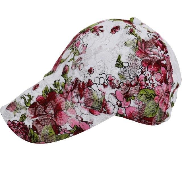 2016 Neue Sommer Vintage Floral Weißer Spitze Beseball Kappe Visier Kappen Für Frauen Damen