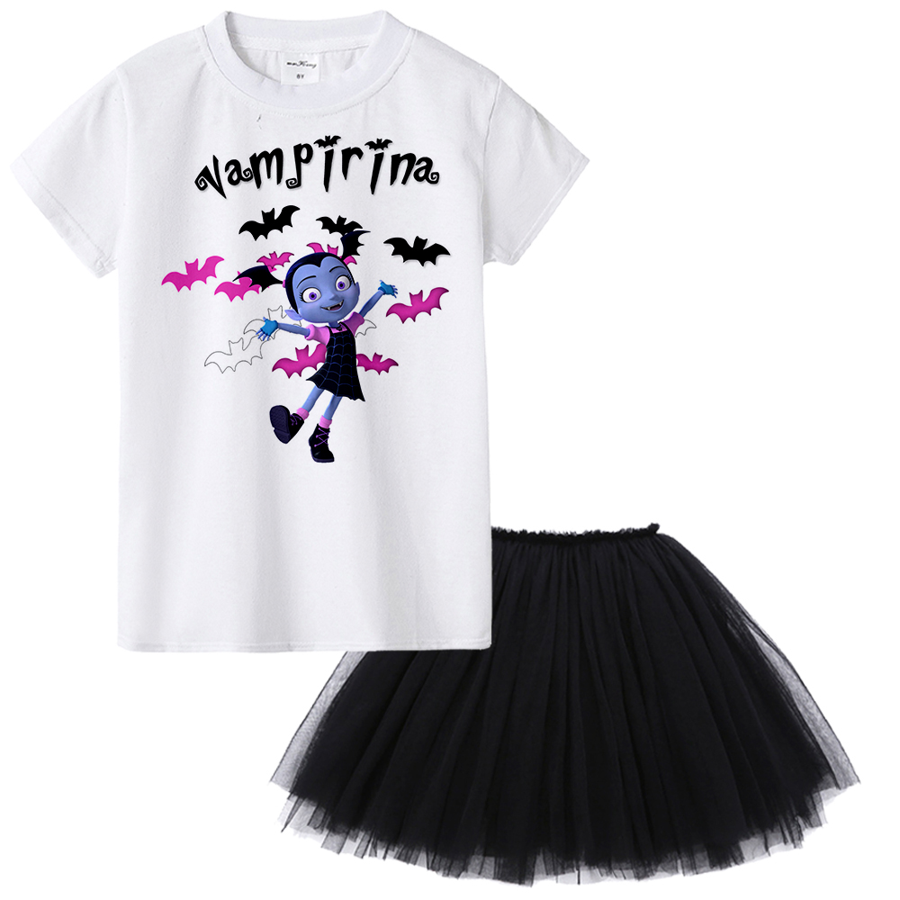 Vampirina Girl Clothing Set Junior Batwoman The Vamp Kids Clothes Children Summer T-shir ...