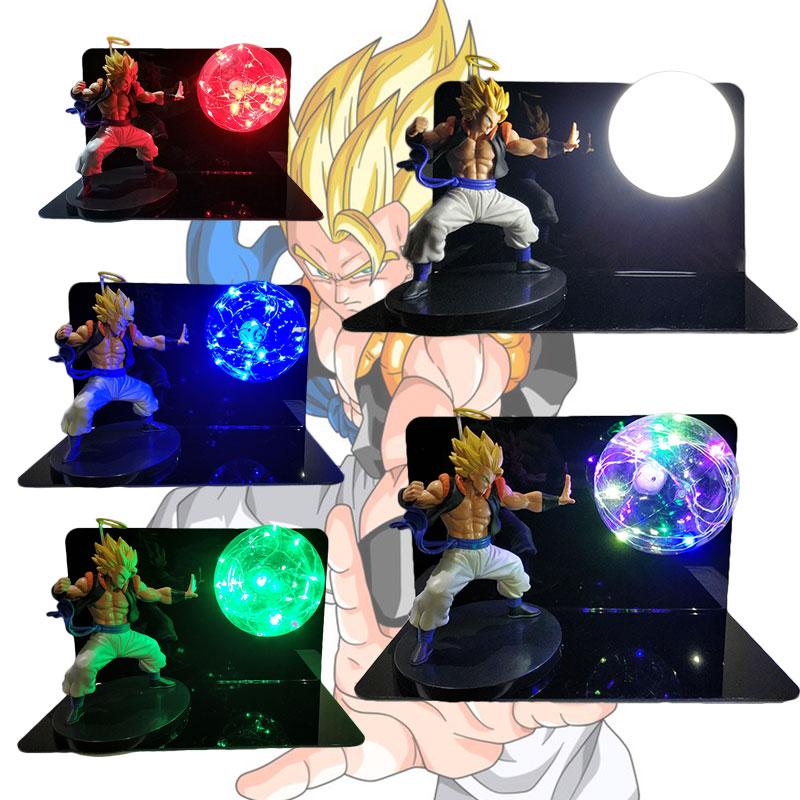 Dragon Ball Lamp Gogeta Figuras LED Light Decorative Table Lamp Dragon Ball Super Figure Bedroom Night