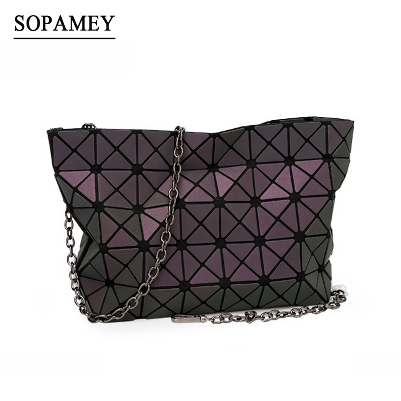 New Women Bao Bags Chain Luminous Crossbody Shoulder Bag Geometric Luxury Handbags Women Bags Designer Bao Bags Handbag Bolsas me to you мягкая игрушка утенок 26 см