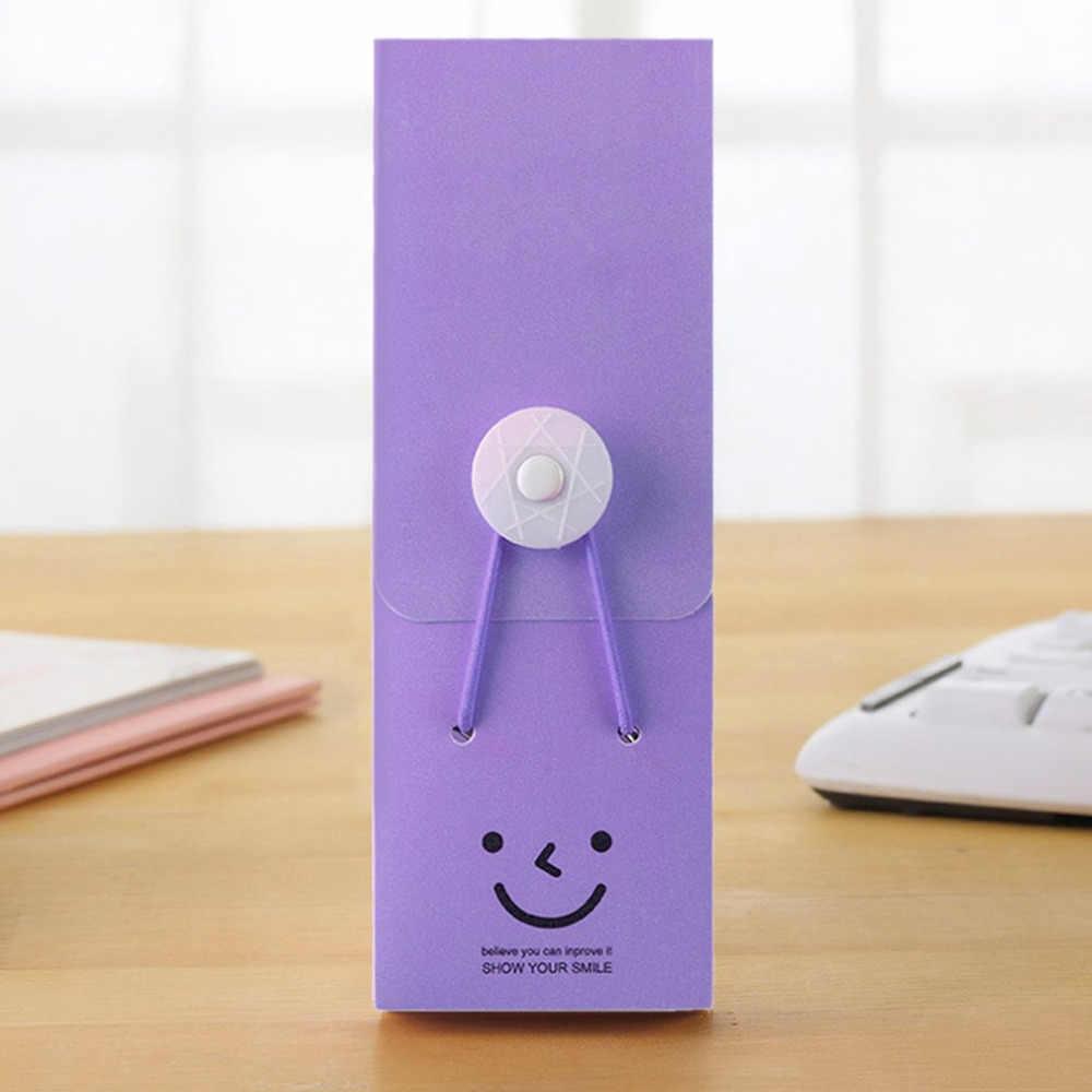 笑顔鉛筆ケース学用品かわいい鉛筆バッグ実用的な文房具ギフトかわいい大容量キャンディーカラー鉛筆ケース