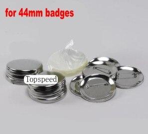 44mm Badge maker Button making supplies 1000pcs shells + films+ back pins все цены