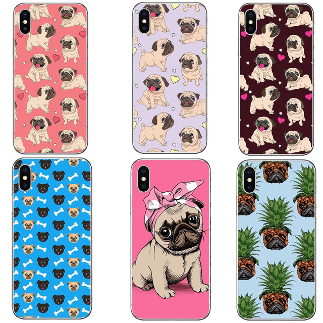 sports shoes c7b72 eac2e US $1.21 39% OFF|Lovely Cartoon Dogs Phone Case For iphone X 10 Case For  iphone 6 6S 7 8 Plus 5 5s Fashion Retro Back Cover Cute Love Heart Cases-in  ...