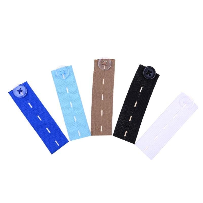 1Pc Maternity Waistband Pants Belly Rubber Band Belt Skirt Trousers Waist Expander Buttons 4 Holes Adjustable Elastic Extender 5