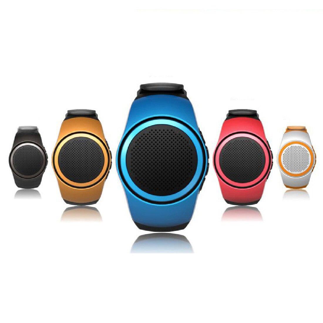 2016 Hot Sale Bluetooth Sports Music Watch Portable Mini Watch Bluetooth 2.1+EDR Sport Speaker TF Card FM Audio Radio Speakers