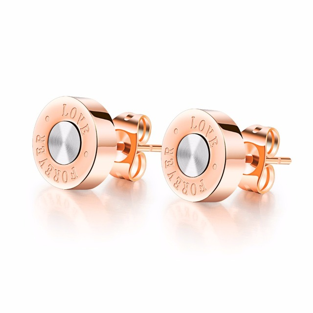 9 MM Rose gold Color Titanium Steel Jewelry Nickle Free