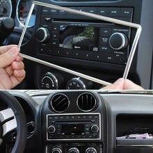 1x среднего автомобиля укладки центр щиток приборной панели CD Панель рамка, украшение крышка отделка Стикеры подходит для Jeep Compass Wrangler Patriot