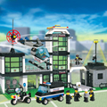 JOY MAGS Toy Model City Police Station 110 Educational Model Building 3D blocks Toys for Children 110 DIY Model Collection Gift