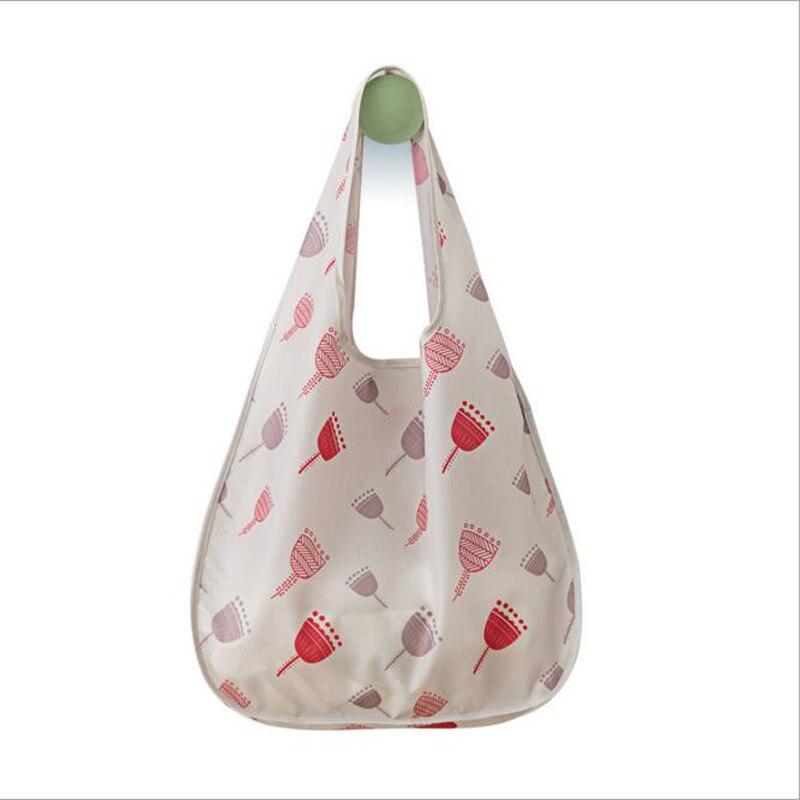 цена на SHUSHIRUO High Quality Eco Friendly Shopping Bag Women's Handbags Waterproof Cartoons Printing Reusable Shopping Foldable Tote