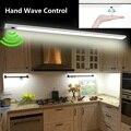 Led onda de mão sob a luz do armário sensor infravermelho tira rígida barra luz luzes da cozinha lâmpada do banheiro lâmpadas noite decoração para casa